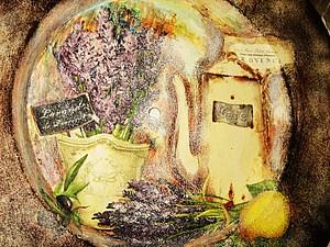 Художественный декупаж с пигметами. | Ярмарка Мастеров - ручная работа, handmade