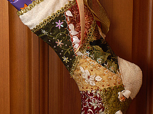 Шьем рождественский крейзи-носочек | Ярмарка Мастеров - ручная работа, handmade
