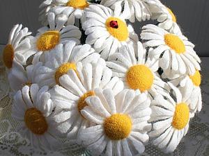 Собираем солнечный букет ромашек из шерсти | Ярмарка Мастеров - ручная работа, handmade