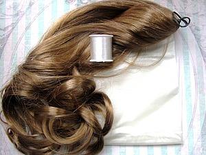 Делаем волосы для кукол — трессы | Ярмарка Мастеров - ручная работа, handmade