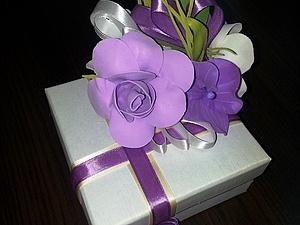 Мастер-класс по фоамирану подарочная коробка. (цветы) | Ярмарка Мастеров - ручная работа, handmade