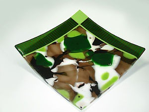 Делаем тарелку расцветки хаки. Ярмарка Мастеров - ручная работа, handmade.