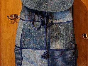 Шьем новый рюкзак из старых джинсов. Ярмарка Мастеров - ручная работа, handmade.