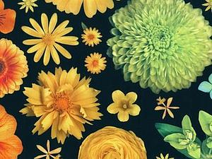 Как живые! Яркие цветы на тонком батисте. | Ярмарка Мастеров - ручная работа, handmade