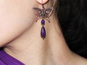 Делаем элегантные серьги с бабочками | Ярмарка Мастеров - ручная работа, handmade