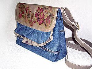 Шьем сумочку из старых джинсов или любой ткани | Ярмарка Мастеров - ручная работа, handmade