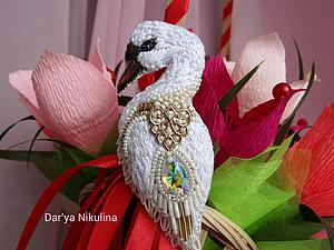 Создаем шикарную брошь «Лебедь» | Ярмарка Мастеров - ручная работа, handmade
