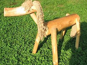 Мастерим садовый декор — лошадку из веток. Ярмарка Мастеров - ручная работа, handmade.