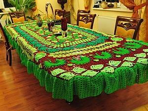 Вязание ажурной скатерти