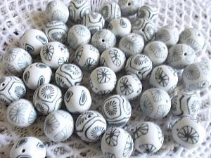 Делаем бусинки из остатков полимерной глины | Ярмарка Мастеров - ручная работа, handmade