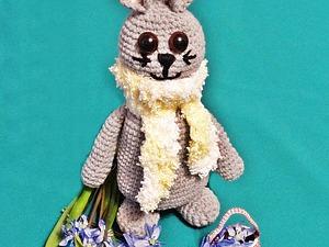 Вяжем пасхального зайчика с корзиной. Ярмарка Мастеров - ручная работа, handmade.