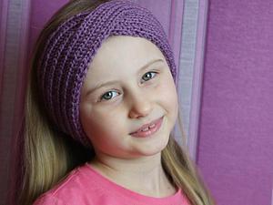 Как просто связать красивую повязку для девочки. Ярмарка Мастеров - ручная работа, handmade.