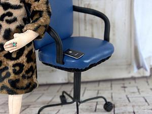 Делаем «кресло директора» для куклы. Ярмарка Мастеров - ручная работа, handmade.