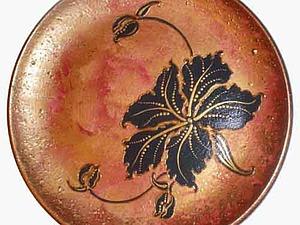 Расписываем керамическую тарелку-панно «Цветок». Ярмарка Мастеров - ручная работа, handmade.