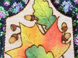 Мастерим разделочную доску «Осенние листья» | Ярмарка Мастеров - ручная работа, handmade