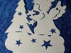 Зимняя сказка на окошке. Ярмарка Мастеров - ручная работа, handmade.