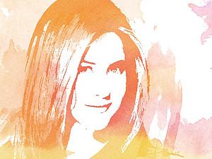 Эффект акварельного портрета с помощью фотошопа. Ярмарка Мастеров - ручная работа, handmade.
