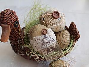 Декор яиц для Пасхи «А-ля Винтаж». Ярмарка Мастеров - ручная работа, handmade.