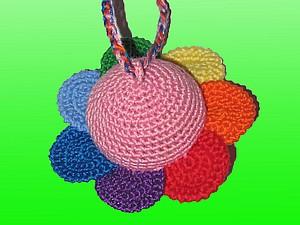 Вяжем погремушку «Цветик-семицветик». Ярмарка Мастеров - ручная работа, handmade.