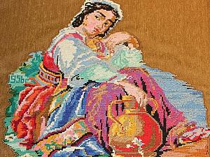 Декорирование подушки «бабушкиной» вышивкой: аппликация на ткани. Ярмарка Мастеров - ручная работа, handmade.