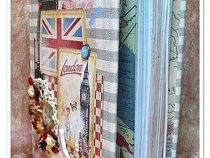 Мастер класс по Скрапбукингу :  Блокнот с тканевой обложкой | Ярмарка Мастеров - ручная работа, handmade