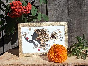 """Открытка""""Осеннее настроение"""".. Ярмарка Мастеров - ручная работа, handmade."""