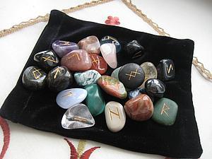 Сделал новый набор рун из разных камней | Ярмарка Мастеров - ручная работа, handmade