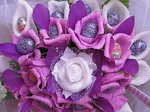 Корзина цветов со скидкой | Ярмарка Мастеров - ручная работа, handmade