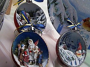 Декупаж внутри новогоднего шарика с использованием элементов техники «Арте-франчез». Ярмарка Мастеров - ручная работа, handmade.
