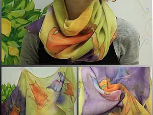 Батик-роспись по ткани. Рисуем шейный платок или шарфик | Ярмарка Мастеров - ручная работа, handmade