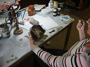 Приглашаю на МК - Работа на темном фоне - Декупаж | Ярмарка Мастеров - ручная работа, handmade