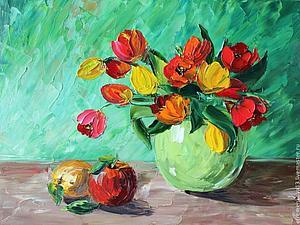 Тюльпаны - работа дня | Ярмарка Мастеров - ручная работа, handmade