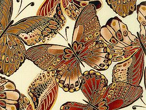 Получаю новые ткани с бабочками   Ярмарка Мастеров - ручная работа, handmade