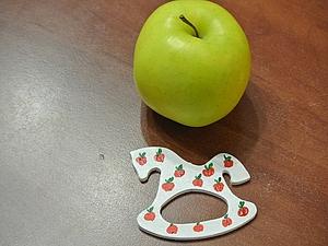 Конь в яблоках, точнее с яблоками | Ярмарка Мастеров - ручная работа, handmade
