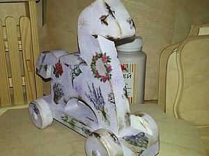 Новинка! «Символ Года» деревянная игрушка-лошадка СКИДКА! | Ярмарка Мастеров - ручная работа, handmade