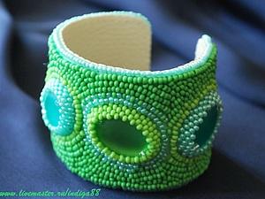 Создаем браслет «Мятный» из бисера. Ярмарка Мастеров - ручная работа, handmade.