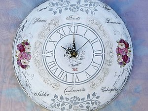 МК «Часы в стиле Шебби-Шик» | Ярмарка Мастеров - ручная работа, handmade