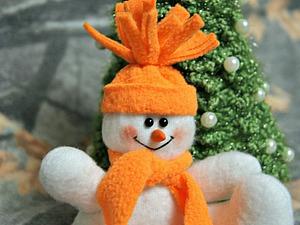 Снеговик в шапочке. Мастер-класс. | Ярмарка Мастеров - ручная работа, handmade
