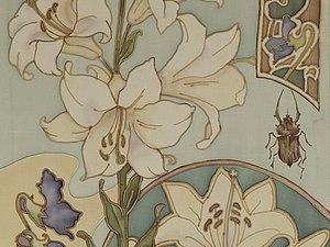 МК Холодный батик. Декоративное панно в стиле «Модерн» ,№1 | Ярмарка Мастеров - ручная работа, handmade