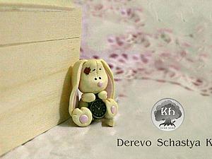 Видео мастер-класс: зайчик из полимерной глины. Ярмарка Мастеров - ручная работа, handmade.