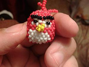Делаем объемную птичку Энгри бердс из бисера. Ярмарка Мастеров - ручная работа, handmade.