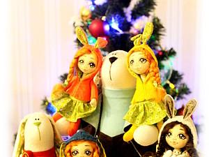 Я и мои зайчики поздравляем Вас!!! | Ярмарка Мастеров - ручная работа, handmade