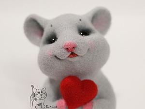 Валяем милого мышочка Фенечку. Ярмарка Мастеров - ручная работа, handmade.