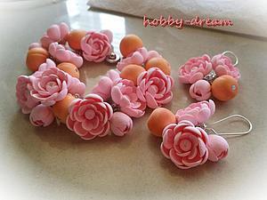 Мастер-класс: «Персиковый цвет». Лепим заготовки для браслета и серег из полимерной глины. Ярмарка Мастеров - ручная работа, handmade.
