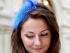 Мастер-класс по шляпке с вуалью в форме капельки | Ярмарка Мастеров - ручная работа, handmade