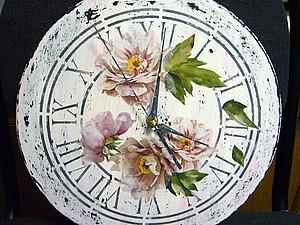Часы в технике Шебби-Шик. | Ярмарка Мастеров - ручная работа, handmade