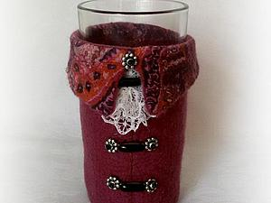 Делаем войлочные одежки для стаканов. Ярмарка Мастеров - ручная работа, handmade.