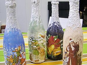 Декупаж новогоднего шампанского - начинаем подготовку к праздникам!   Ярмарка Мастеров - ручная работа, handmade