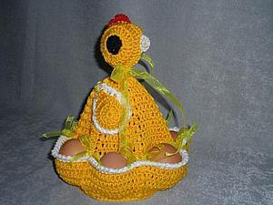 Вяжем пасхальную курочку — забавную подставку для яиц. Ярмарка Мастеров - ручная работа, handmade.