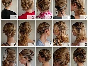 15 вариантов укладки на волосы средней длины. | Ярмарка Мастеров - ручная работа, handmade